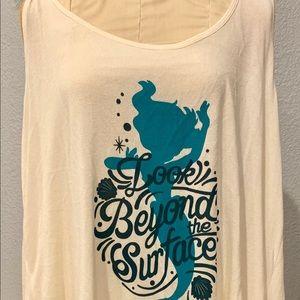 Torrid Disney Ariel Long sleeveless Shirt